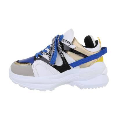 Sneakers low für Damen in Blau und Weiß