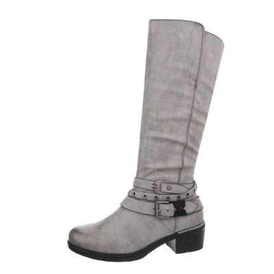 Klassische Stiefel für Damen in Grau