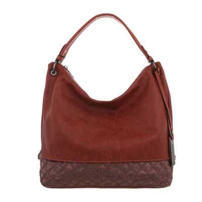 Große Damen Tasche Braun Orange