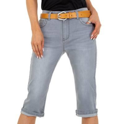 Capri-Jeans für Damen in Grau und Grau