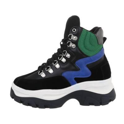 Sneakers high für Damen in Schwarz und Blau