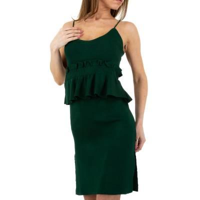 Strickkleid für Damen in Grün
