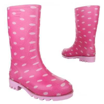 Mädchen Kinder Gummi Stiefel Pink