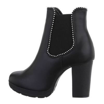High-Heel Stiefeletten für Damen in Schwarz