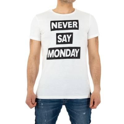 T-Shirt für Herren in Weiß
