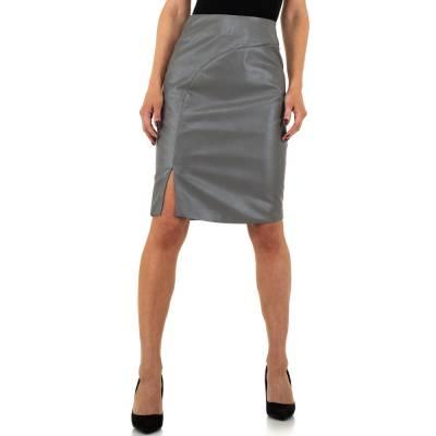 Midirock für Damen in Grau