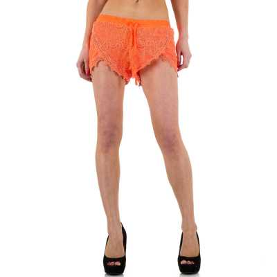 Hotpants für Damen in Orange