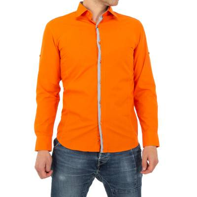 Hemd für Herren in Orange
