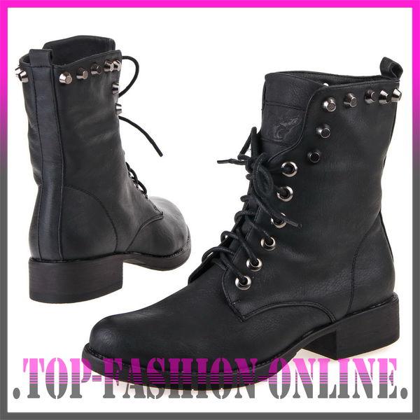 luxus neu designer damen schuhe stiefeletten boots mit nieten schnalle j6sd ebay. Black Bedroom Furniture Sets. Home Design Ideas