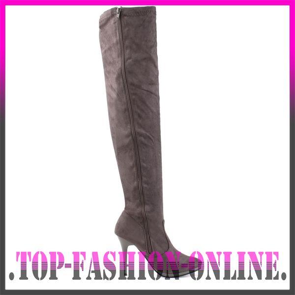 neu designer damen schuhe overknee stiefel berknie boots. Black Bedroom Furniture Sets. Home Design Ideas