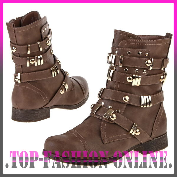 luxus neu designer damen schuhe stiefeletten boots mit nieten 7m5h ebay. Black Bedroom Furniture Sets. Home Design Ideas