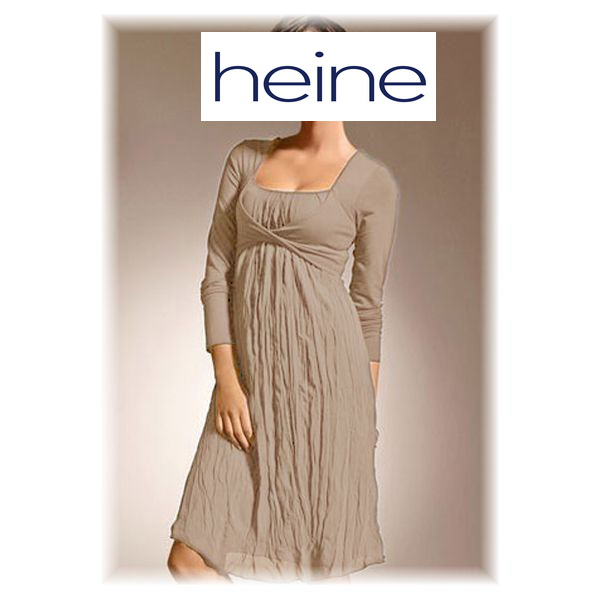 neu damen kleid abendkleid cocktailkleid im empire stil heine h5nt 34 beige ebay. Black Bedroom Furniture Sets. Home Design Ideas