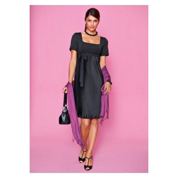 designer damen kleid abendkleid im empire stil plissee vivance n515 schwarz 0 ebay. Black Bedroom Furniture Sets. Home Design Ideas