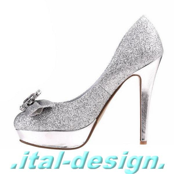 luxus neu designer damen schuhe pumps plateau high heels b78x silber ebay. Black Bedroom Furniture Sets. Home Design Ideas