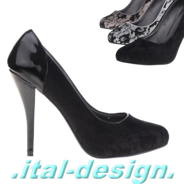 luxus neu designer damen schuhe pumps high heels stiletto mit spitze k775 ebay. Black Bedroom Furniture Sets. Home Design Ideas