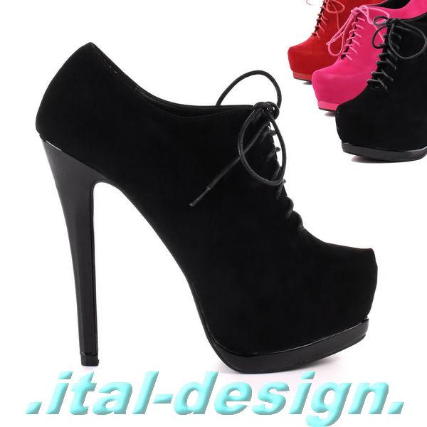 luxus neu designer damen schuhe stiefeletten high heels. Black Bedroom Furniture Sets. Home Design Ideas