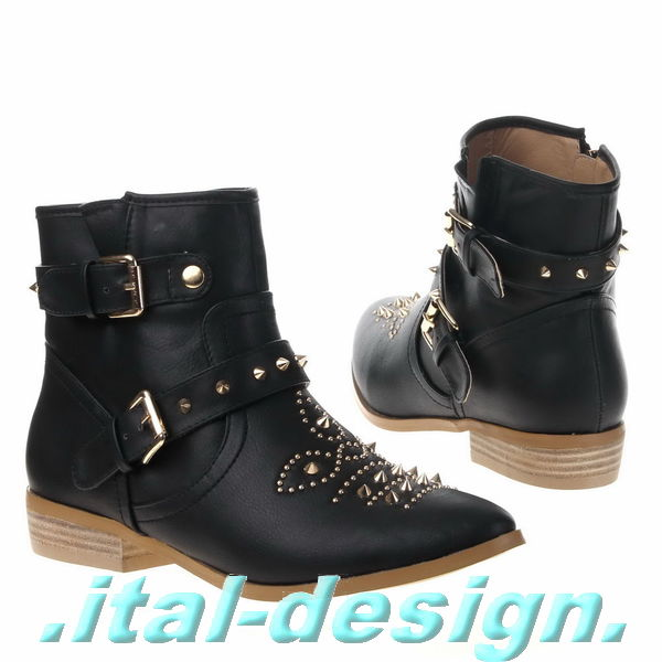 neu damen schuhe stiefeletten boots mit nieten und stacheln x09e gr 37 schwarz ebay. Black Bedroom Furniture Sets. Home Design Ideas