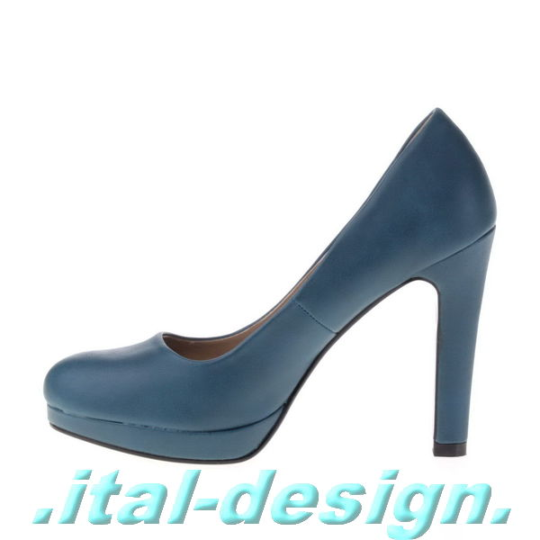 neu designer damen schuhe pumps plateau high heels in leder optik 58pm blau 0 ebay. Black Bedroom Furniture Sets. Home Design Ideas