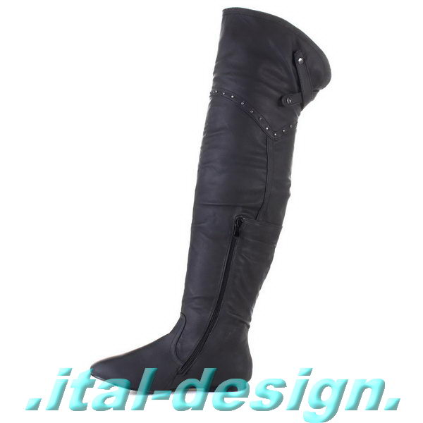 designer damen schuhe overknee stiefel yd7e schwarz 0 ebay. Black Bedroom Furniture Sets. Home Design Ideas