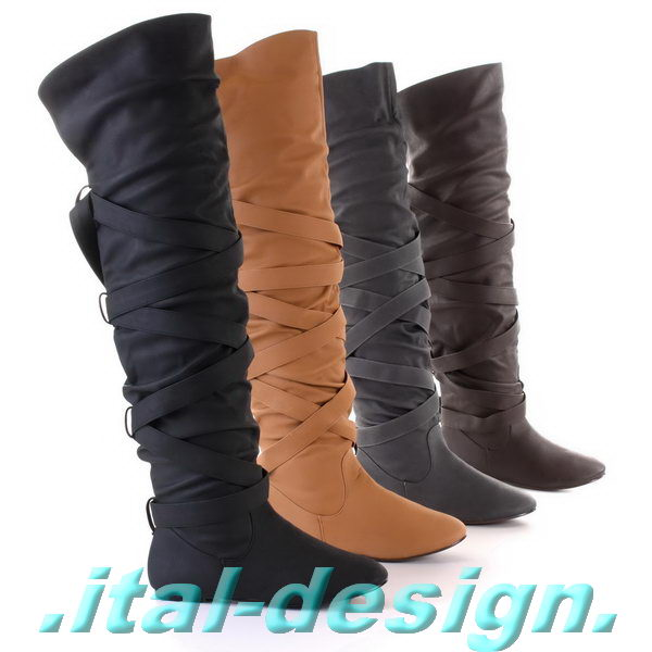 designer damenschuhe overknee schuhe 0 stiefel neu 8r6 ebay. Black Bedroom Furniture Sets. Home Design Ideas