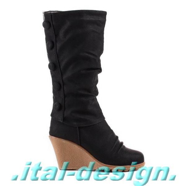 designer damen schuhe stiefel boots mit keilabsatz. Black Bedroom Furniture Sets. Home Design Ideas
