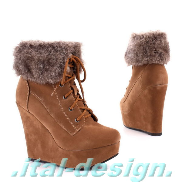Damen Schuhe Stiefeletten designer Leder Boots 6846 Camel 38