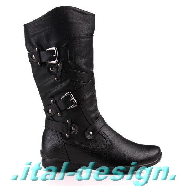 luxus neu designer damen schuhe stiefel boots mit riemchen warm 7i96 schwarz ebay. Black Bedroom Furniture Sets. Home Design Ideas